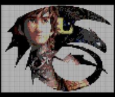 Perler bead How To Train Your Dragon pattern