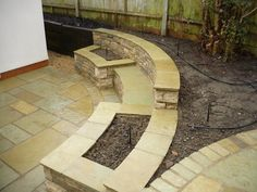 built in stone bench - Google Search