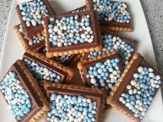 chocoladekoekje met muisjes