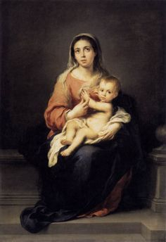 Bartolome Esteban Murillo | Bartolomé Esteban Murillo, Madonna and Child , c. 1670, 166 x 115 cm ...