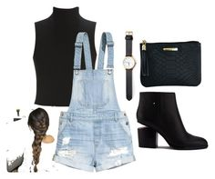 """""""Coffee date at night"""" by kassielbdld on Polyvore featuring Alexander Wang, Elizabeth and James, H&M and GiGi New York"""