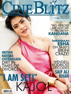 Kajol for Cine Blitz. #Style #Bollywood #Fashion #Beauty