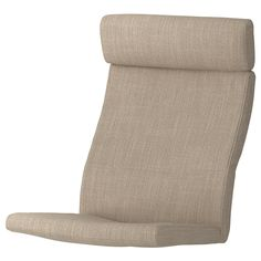 IKEA - POÄNG, Armchair cushion, Hillared beige, HILLARED cover is woven from cotton and polyester – with viscose and linen added. The durable cover has a clear structure, yet soft and comfortable at the same time. Cushions Ikea, Chair Cushions, Media Furniture, Living Furniture, Modular Sofa, Polyurethane Foam, Light Beige, Rugs In Living Room, Chairs