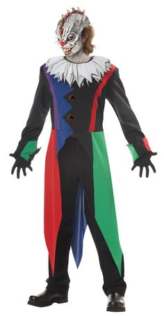 Halloween Very Scary Clown Costumes for Adults