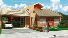 9 Beautiful Houses facades with roof House Architecture Styles, Plans Architecture, Architecture Design, Modern House Facades, Modern House Design, Beautiful House Plans, Beautiful Homes, Garage Ouvert, Independent House