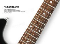Zebra™ ST-02 ST Type Solid Poplar Electric Guitar with Gig Bag Sale - Banggood.com