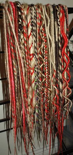 Full set of 45 doubleended synthetic dreads. by DreadmeLock                                                                                                                                                     More