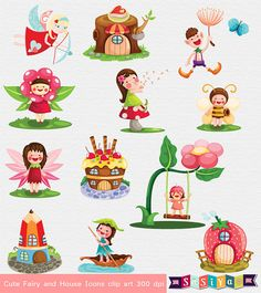 INSTANT DOWNLOAD Cute Fairy Clip Art  - for if we designed our own invitations and can use for decor - my favorite so far