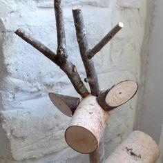1000 images about log deer on pinterest logs reindeer for White birch log crafts