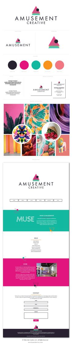Amusement Creative branding and logo design by White Oak Creative