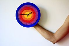 The rainbow target clock