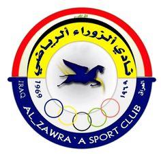 Al-Zawraa of Iraq crest. Asia, Sports Clubs, Crests, Team Logo, Football, Logos, Soccer Teams, Baghdad Iraq, Sun Valley