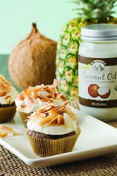 Chocolate Almond Cupcake with Coconut Frosting | Recipe | Joy of Kosher with Jamie Geller
