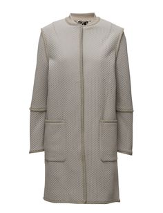 DAY - Day Jalabah DAY Jalabah is a beautiful and elegant spring and summer coat. The coat features many lovely details and is tailored for a slightly loose fit- a perfect layering piece between seasons.  Snap button closure Straight cut Elegant and feminine Modern Patterned texture Summer Coats, Straight Cut, Textures Patterns, Chef Jackets, Ruffle Blouse, Feminine, Elegant, Day, Sweaters