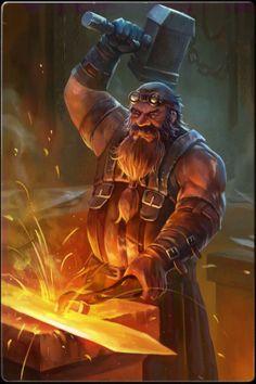 dwarf, hammer, smith
