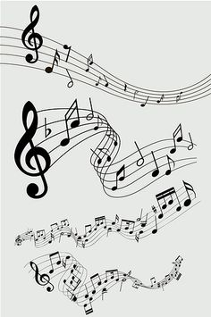 A collection of music-themed doodles. Music Tattoo Designs, Music Tattoos, Music Symbol Tattoo, Music Drawings, Music Artwork, Musik Illustration, Music Notes Art, Music Doodle, Vine Tattoos