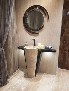 Here you will find photos of interior design ideas. Get inspired! Washroom Design, Toilet Design, Bathroom Design Luxury, Modern Bathroom Design, Home Room Design, Dining Room Design, Lavabo D Angle, Small Toilet Room, Washbasin Design