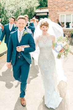 A Blue Silk Claire Pettibone Dress For A Brambly Hedge Inspired Village Hall Wedding   Love My Dress® UK Wedding Blog + Wedding Directory Wedding Ties, Wedding Blog, Our Wedding, Wedding Dresses, English Country Weddings, Claire Pettibone, Just Married, Dresses Uk, Hedges