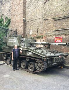 50 you're fired! Who would have thought you could hide a tank in the middle of London!!