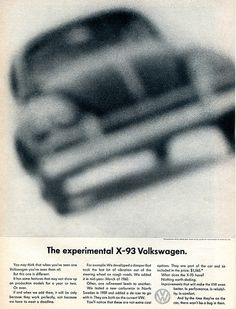 1961 Volkswagen X-93 Advertising Car and Driver April 1961