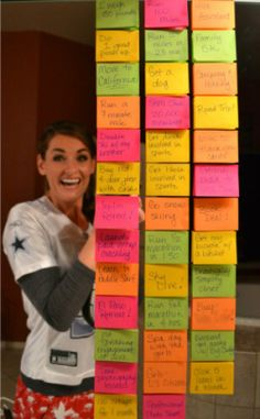 Sticky Goals - a secret to reaching goals. Might have to give it a try.