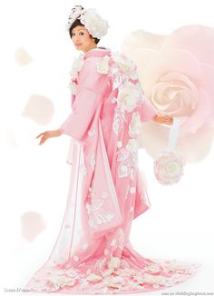 Kimono: How's this for gorgeous? Sheer pink overcoat with large flowers and leaves. Cute matching purse!