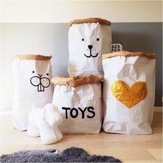 Cute toy storage sacks
