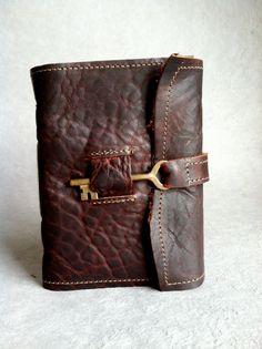 American Buffalo Leather Journal with Handmade Paper by Binding Bee. $68.00, via Etsy. GAHHH!