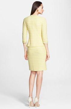 John Collection Textured Stripe Knit V-Neck Dress Sheath Dress, Bodycon Dress, Yellow Fashion, Striped Knit, V Neck Dress, Feminine, Nordstrom, Dresses For Work, Stripes
