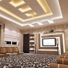 latest pop false ceiling designs pop wall designs for hall False Ceiling Living Room, Ceiling Design Living Room, Bedroom False Ceiling Design, Hotel Room Design, Home Ceiling, Ceiling Ideas, Ceiling Lights, Pvc Ceiling Design, Simple False Ceiling Design