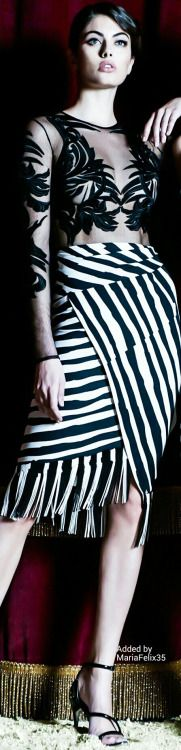 Zuhair Murad black and white dress