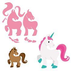 Marianne Design - Die - Collectables - Eline`s Horse & Unicorn