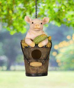#ad #pigs & Bucket #birdhouse House