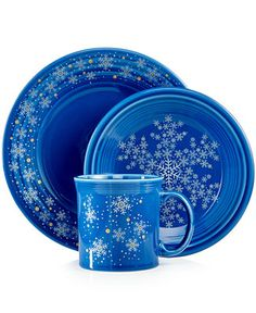 Fiesta Macy's Exclusive Snowflake Collection - Dinnerware - Dining & Entertaining - Macy's