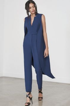 25bfa04cec60 Sleeveless Tailcoat Jumpsuit in Ink
