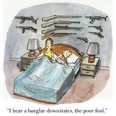 Funny Guns Home Defense Comic Ak 47, Fire Machine, Gun Humor, Come And Take It, Gun Rights, Home Defense, Gun Control, Concealed Carry, Political Cartoons
