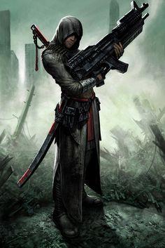 Protagonista hipotético para Assasin's Creed (fanart).