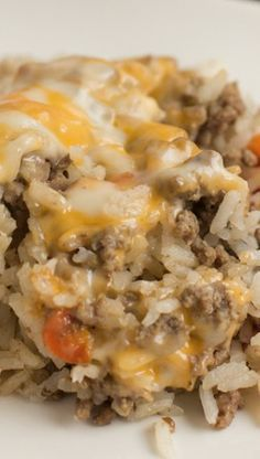 Cheesy Ground Beef Casserole Recipe