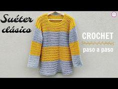 How To Crochet Stylish Sweater - Crochet Ideas Crochet Bodycon Dresses, Crochet Blouse, Crochet Top, Crochet Stitches, Crochet Ideas, Summer Sweaters, Knitting Videos, Crochet Fashion, Ponchos