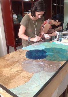Lotus Leaves Painting