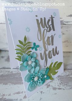 Julie Kettlewell - Stampin Up UK Independent Demonstrator - Order products 24/7: Just for You in Silver