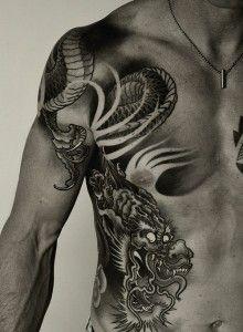 Dragon Tattoo Mans Side