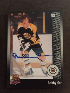 Bobby Orr 2014 Upper Deck 25th Anniversary AUTO SP 15 25 Bruins c048ca3b1