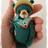 Miniature Thread Crochet Bear 'AMaLee' by ... | Crocheting Ideas
