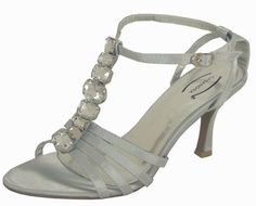 Cassandra Diamante Silver Evening Sandals