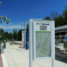 CT Fastrak in Newington (Cedar Station) #CTfastrak #Connecticut #Transit #Bus #Regrann