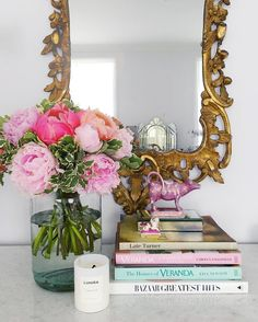 """peonylim: """" At home. I've since moved this mirror into my hall but it was cute in my bedroom too. #peonylimhomedecor """""""