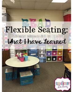 The Elementary Darling: Flexible Seating: What I have Learned