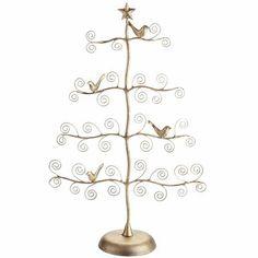 Gold Bird Ornament Tree