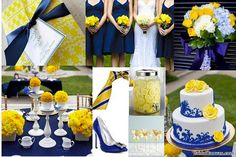 The Cake Topper - Centerpiece    #Fleurs De Provence - #blue and yellow - by DragonflyExpression